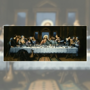 Persian Handmade Pictorial Carpet of The Last Supper is a painting by Leonardo da Vinci's Last Supper, that beautifully stamps on the warps and wefts of the carpet as a status